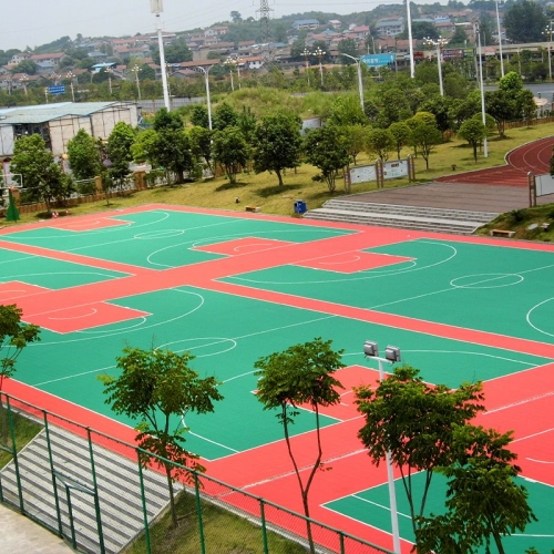 PP outdoor basketball court tiles