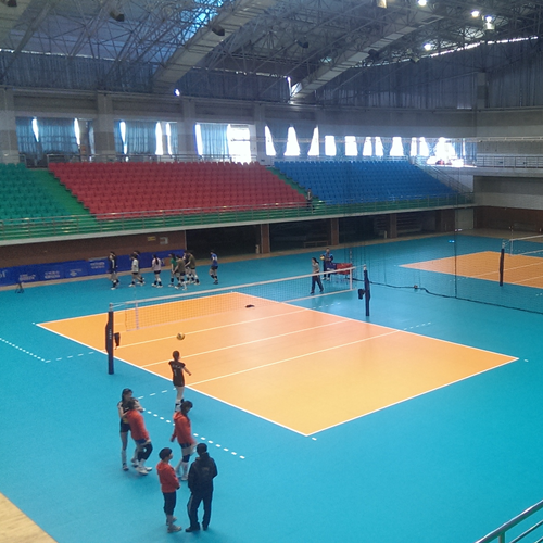 Indoor volleyball sport flooring