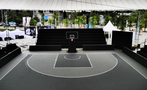 Premium sport Court Tiles for 3x3 basketball court