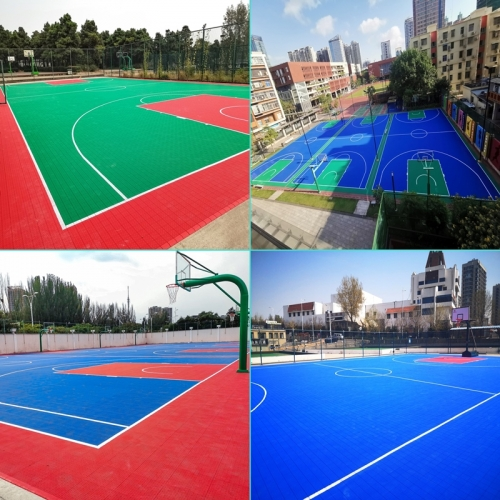 High end Sport court tiles for outdoor basketball court